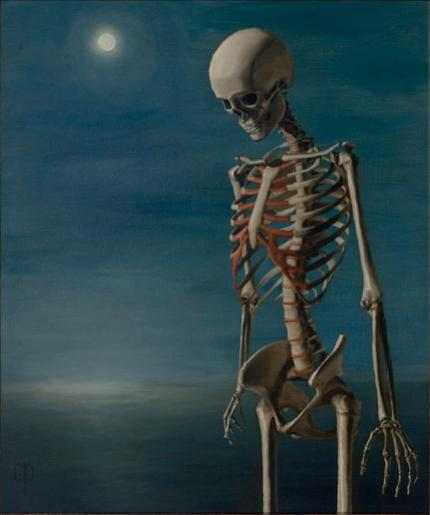 Chris Peters | Clear Blue Water | Skeleton Print