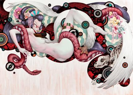 Geisha and The Swan by Tristan Eaton